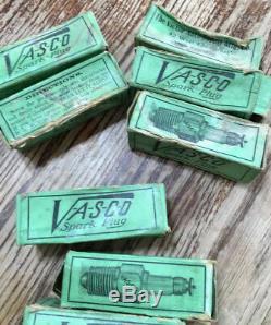 Très Rare, Vintage Vasco Spark Plugs / Boîte D'origine