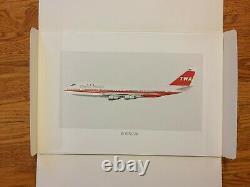 Twa 50 Ans De Service 1926-1976 Plane 8 Imprimer Coffret Vierge Original Etanche