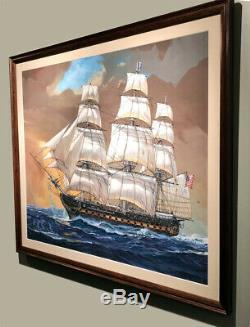 Uss États-unis Boîte Originale Art Studio Peinture Par John Steel Rechercher Scarce