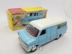 Vieux Jouets Dinky 407 Kenwood Ford Transit Van Près De La Menthe + Boîte Originale Nmib