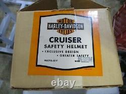 Vintage 1950 Harley Davidson Cruiser Demi Casque, Visor Original Box Excellent