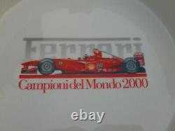 Vintage Boxed Original Ferrari Bitossi Grand Ashtray 2000 F1 Champions Du Monde