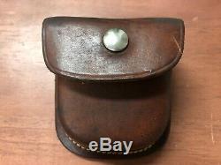 Vintage Brunton Transit Pocket Compass Cuir Instructions De Cas Boîte Originale