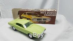 Vintage Concessionnaire Mpc 1973 Brouillard Promo Dodge Charger Box Vert Original