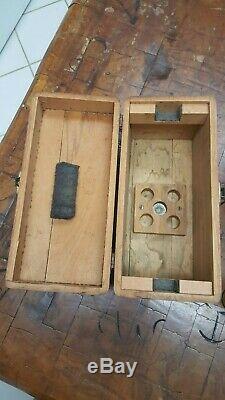 Vintage David White Level Transit & Original Box Fil À Plomb Générale En Laiton Manuel