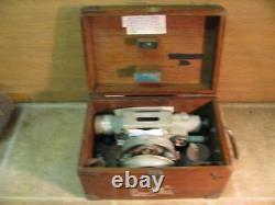 Vintage Fennel Kassel No 59699 Engineers Level Transit In Original Wood Box