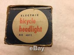 Vintage Nos J. C. Higgins Phare Vélo Avec La Boîte D'origine