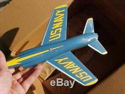 Vintage Original Topping F-11 Tiger Anges Bleus Aircraft Bureau Modèle In Box