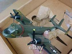Vintage Original Topping Grumman Mohawk Aircraft Bureau Modèle In Box