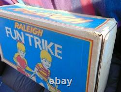 Vintage Raleigh Little Trike Totalement Original Et En Boîte Dans La Boîte Originale