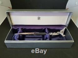 Vintage Rolls Royce Ouvre-lettre Spirit Of Ecstasy En Acier Inoxydable Boîte D'origine