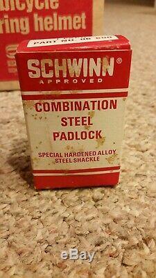 Vintage Schwinn Lock & Chain vélo Cadenas À Combinaison Originale Box Nos