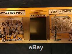 Vintage Trailways Thru-liner Bus Pmc En Boîte Originale # 3254 Avec Bagages Et Moteur