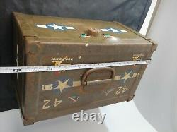 Vintage Ww2 Lock Box De B-25h Mitchell Bomber Plane Dog Daize In Museum