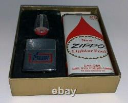 Vintage Zippo Lighter En Boîte D'origine Avec Boîte Fluide (fruehauf Trailers)