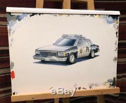 Voiture De Police 1980/81 Chevy Malibu Modèles Originaux Monogram Boîte Peinture Art Wow