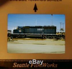 Vtg Railroad Diapositives Boîte Originale 2500+ Lot 1980