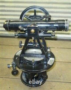 W&le Gurley Transit Survey Equipment Telescope Serial#560102 Boîte À Bois Originale