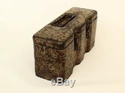 Ww2 Originale Relic Allemand Springminen Transport Box / Case S. Mi. 35/1943