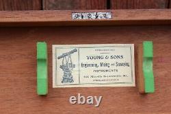 Young & Sons Surveyors Transit Avec Boîte Originale Et Tri Pod Original Fin 1800